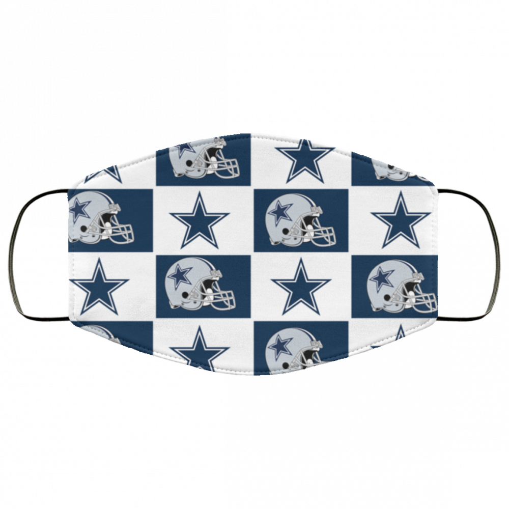 Dallas Cowboys pattern face mask - made in the USA 1