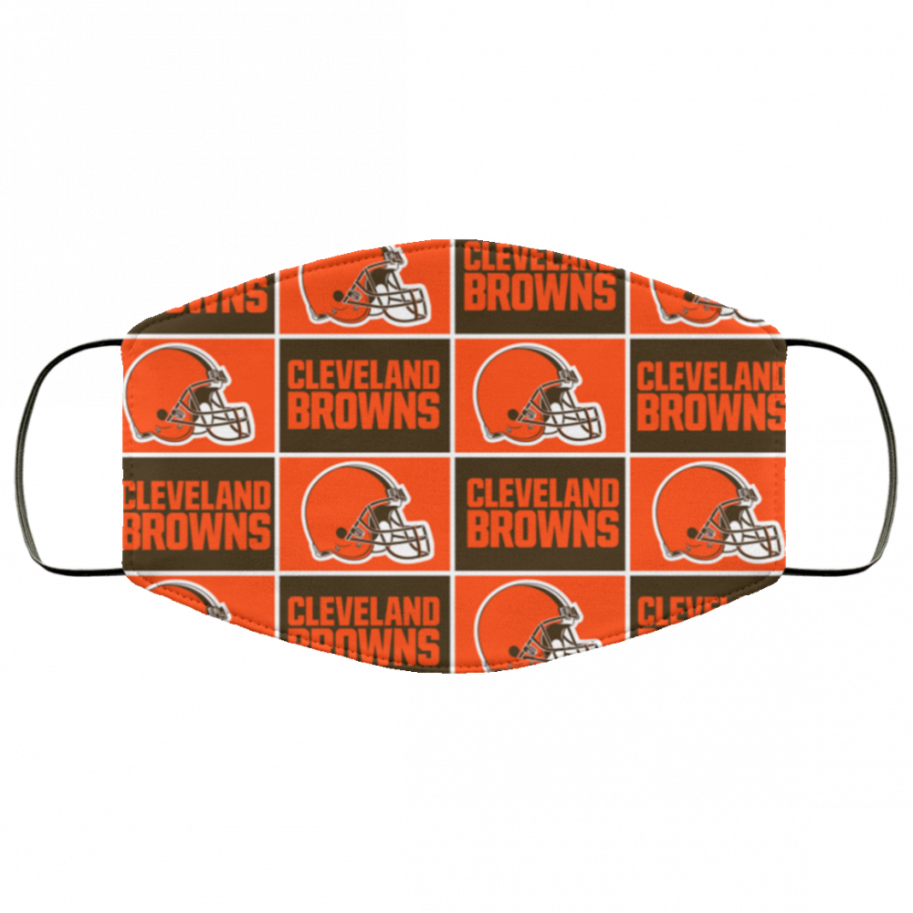Cleveland Browns pattern face mask - made in the USA 1