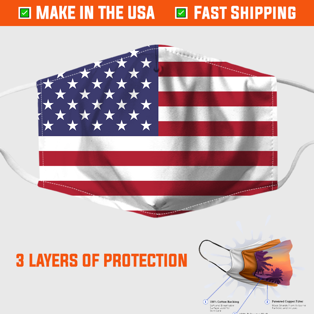 American Flag Face Mask - Made In USA 1