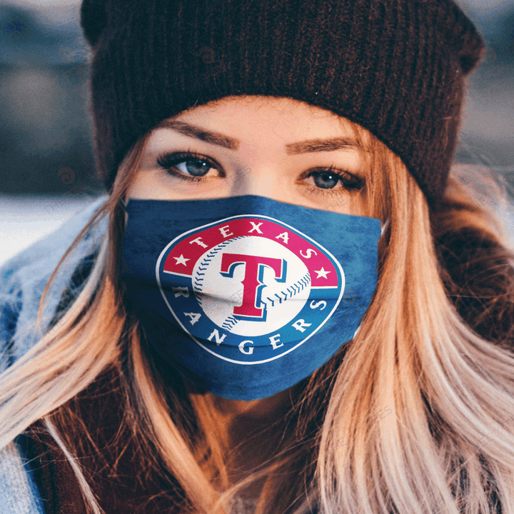 Texas Rangers Face Mask u2013 Made in the USA 1