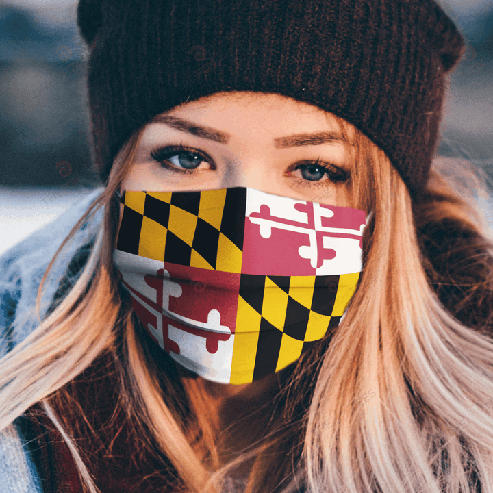 Maryland Flag Face Mask u2013 Make in the USA 1