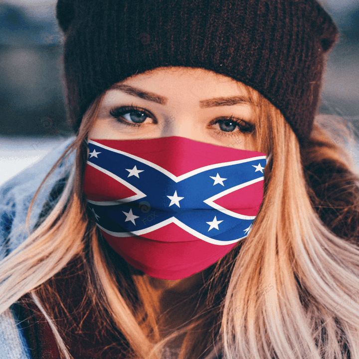 Confederate Flag Face Mask - Make in the USA 1