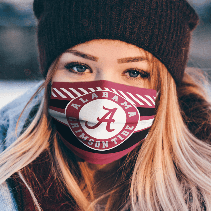 Alabama Crimson Tide Fabric Face Mask u2013 Make in the USA 1