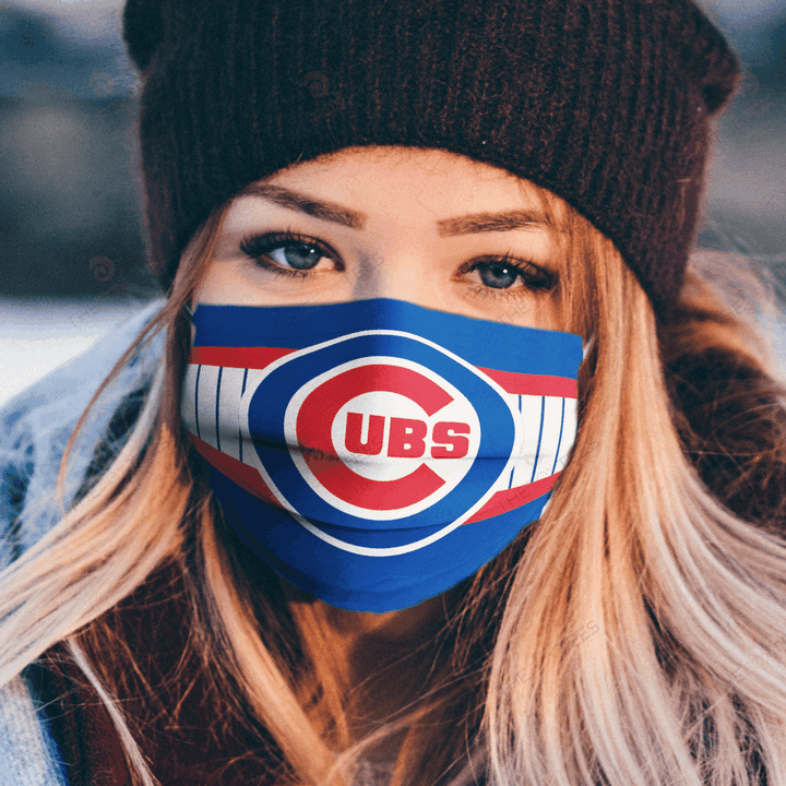 Chicago Cubs Face Mask u2013 Made in the USA 1