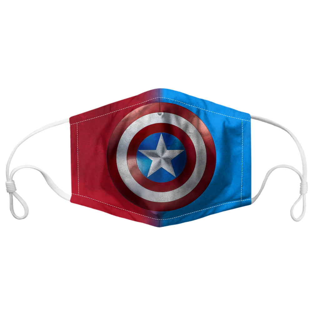 Captain America Face Mask - made in the USA 1