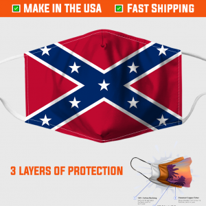 Confederate Flag Face Mask Made In The Usa 253399 6