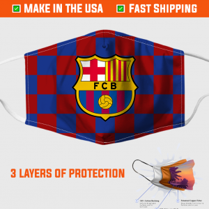 Barcelona Fc Face Mask Made In The Usa 253812