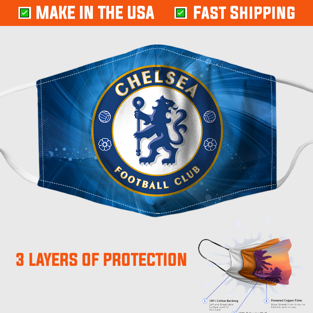 Chelsea FC Face Mask - made in the USA 1