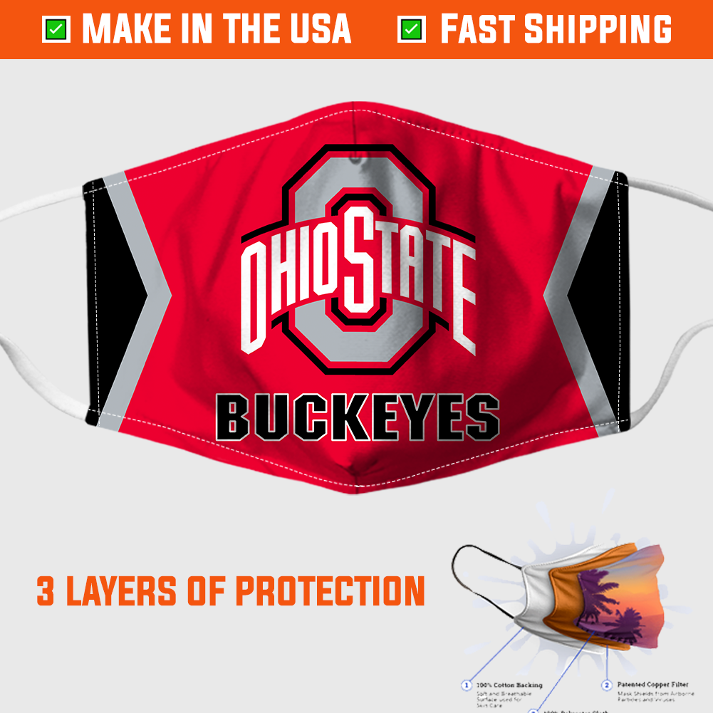 Ohio State Buckeyes Face Mask – Made in the USA 1
