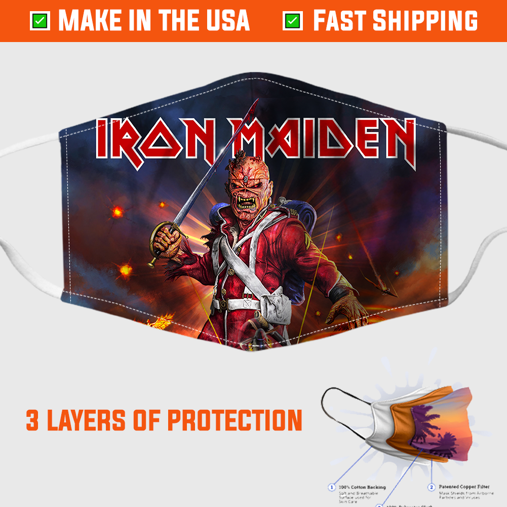 Iron Maiden Face Mask - made in the USA 1