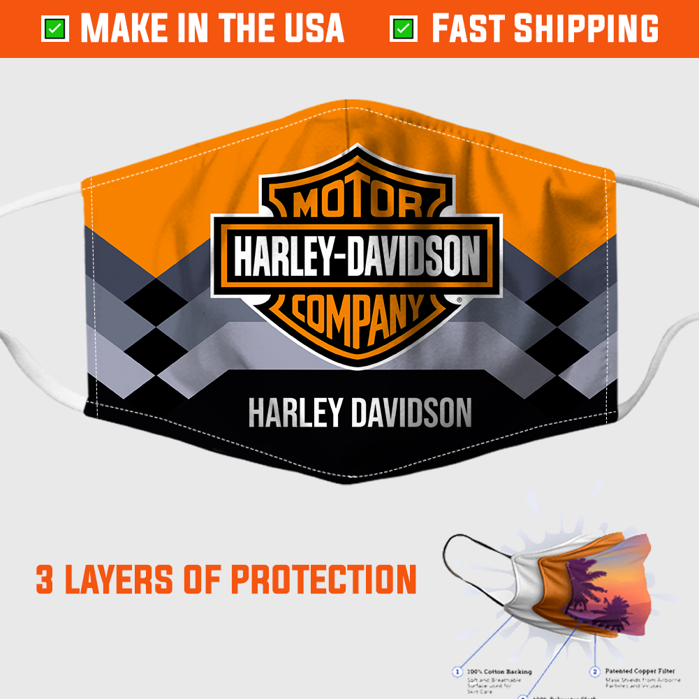 Harley Davidson Face Mask - Made in the USA 2