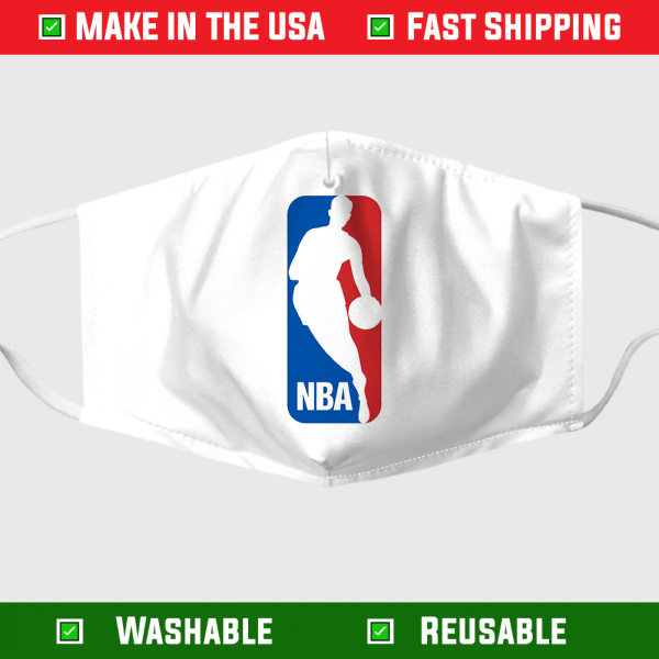 NBA logo face mask - Made in USA 1
