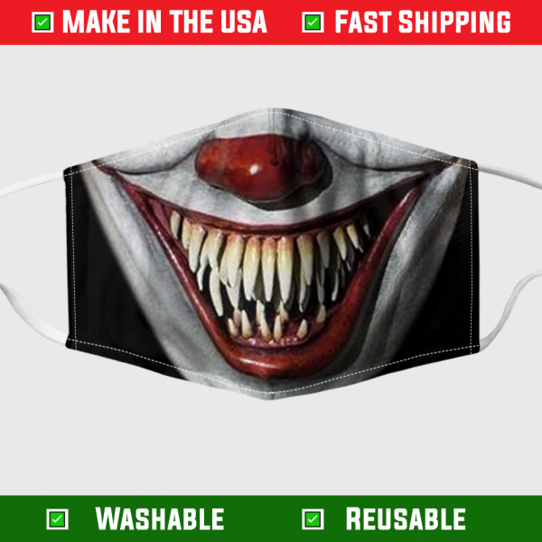 Pennywise face mask – Made in the USA 1