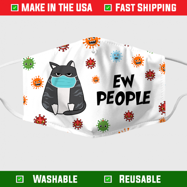 Cat Ew People Face Mask 1