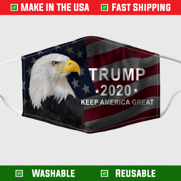 Trump 2020 keep america great eagle face mask 1