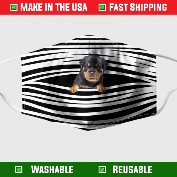 Rottweiler Stripes Face Mask – Made in the USA 1