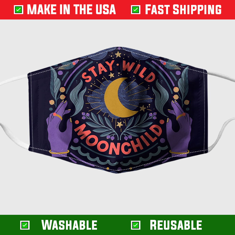 Stay Wild Moonchild Face Mask 3