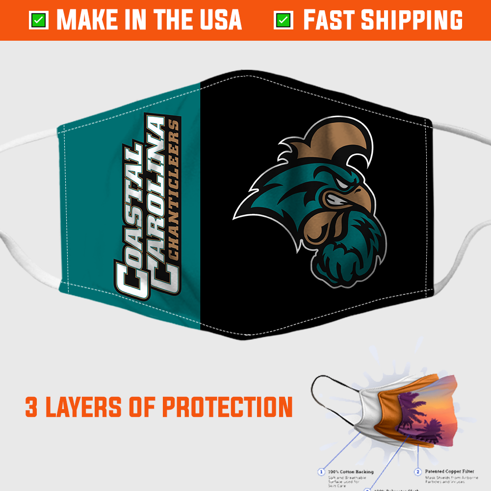 Coastal Carolina Chanticleers Football Face Mask 1