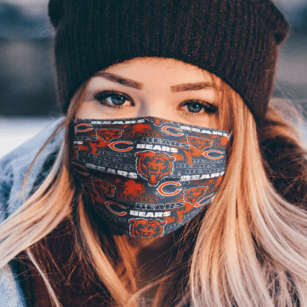 Chicago Bears Logo Cloth Face Mask 1.png