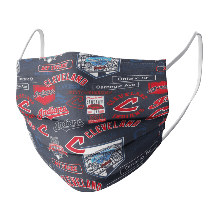 CLEVELAND INDIANS CLOTH FACE MASK - Made in USA 1