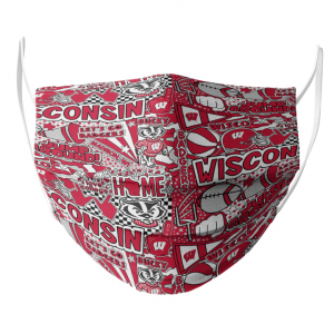 Wisconsin Badger Face Mask1.png