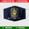 Hamden Police Back The Blue Face Mask 7087.png