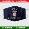 Pueblo Police Department Back The Blue Face Mask 7091.png