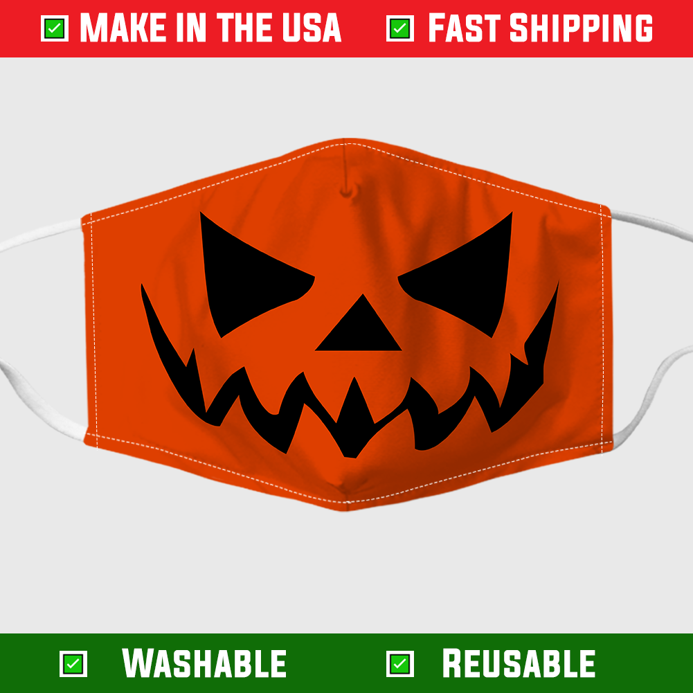 Pumpkin Halloween Face Mask – Made in the USA 1