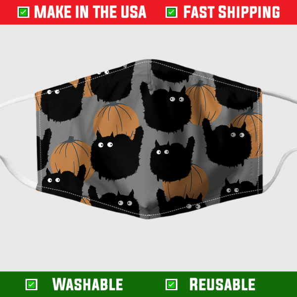 Cat And Pumpkin Halloween Face Mask 7095.png