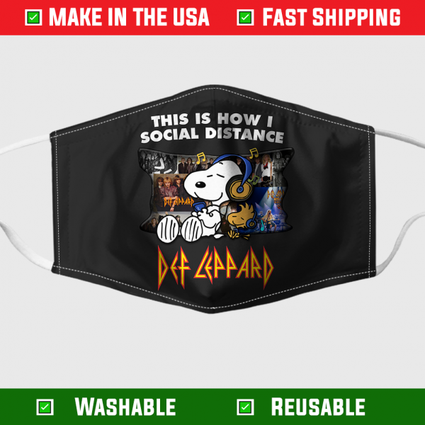 Snoopy This Is How I Social Distance Def Leppard Face Mask 7101.png