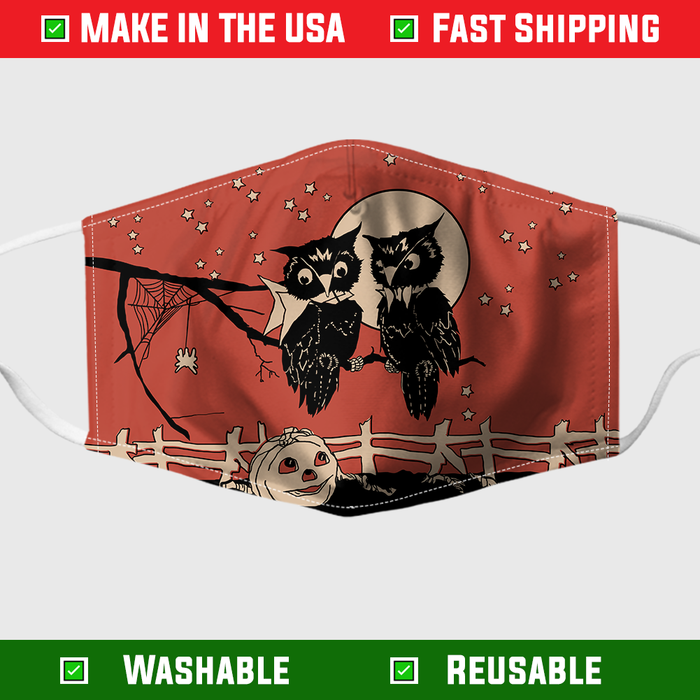 Owl halloween face mask – Made in the USA 1