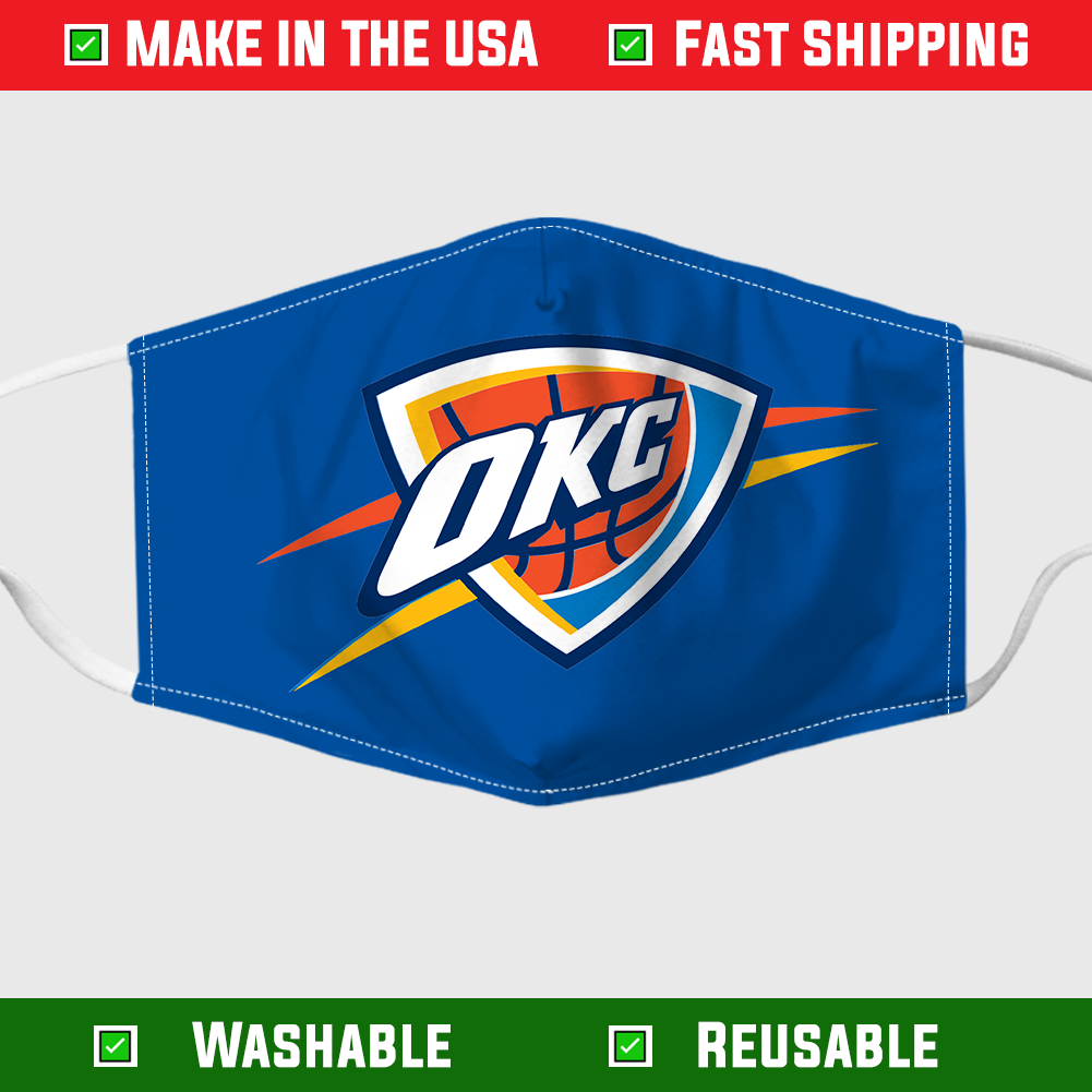 Oklahoma city thunder face mask 1