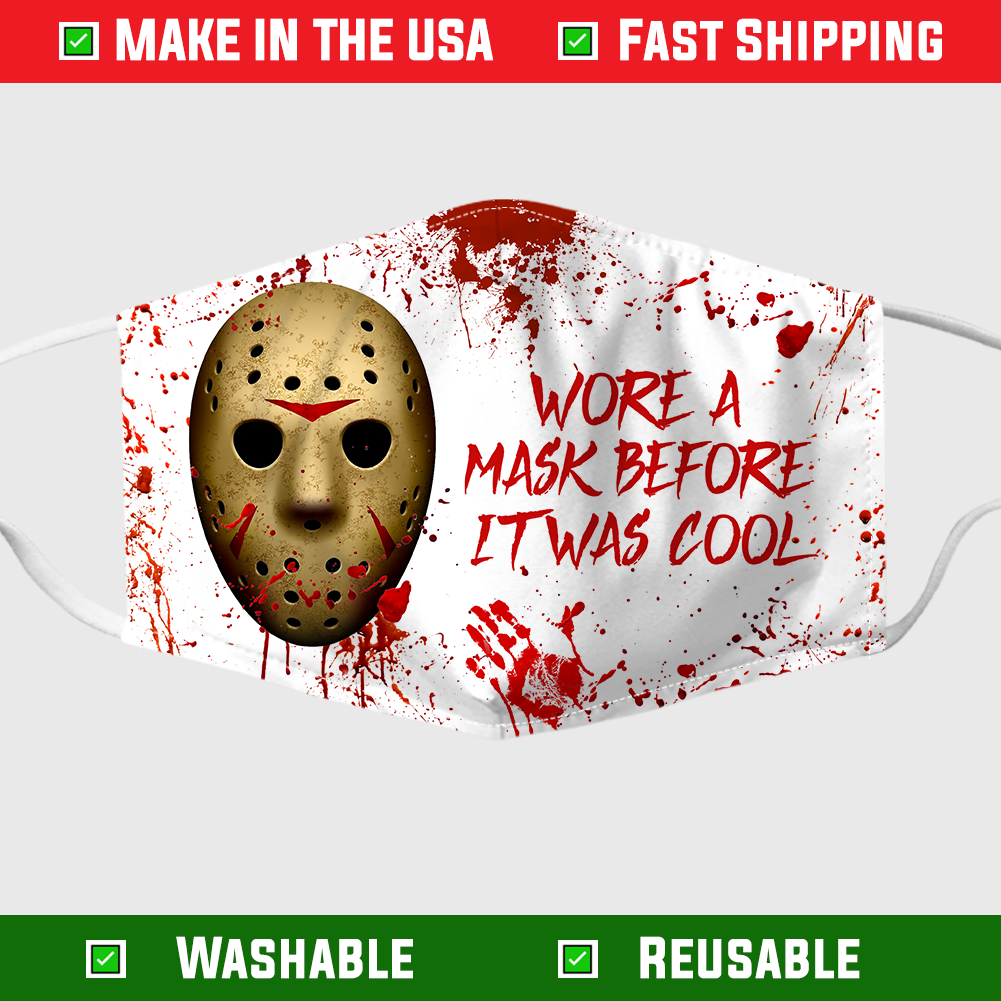 Jason Voorhees wore a mask before it was cool face mask 1