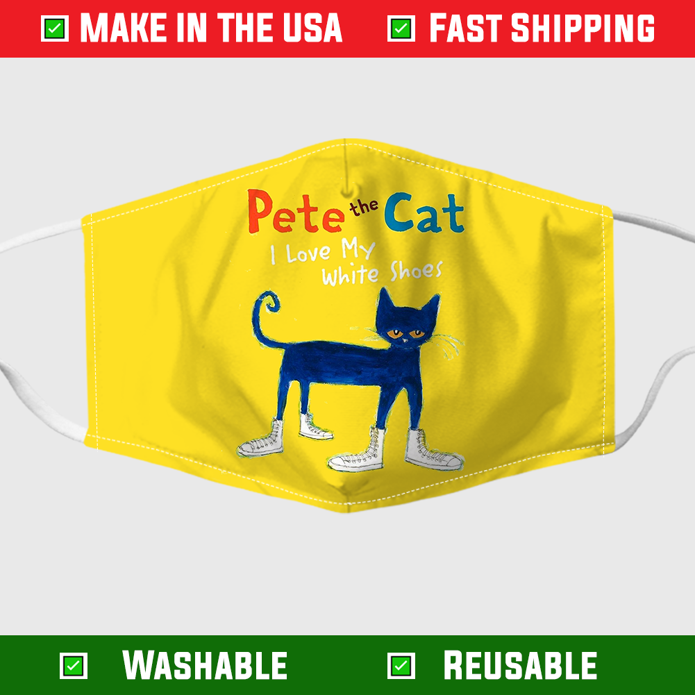 Pete The Cat I Love my White Mask Face mask 1