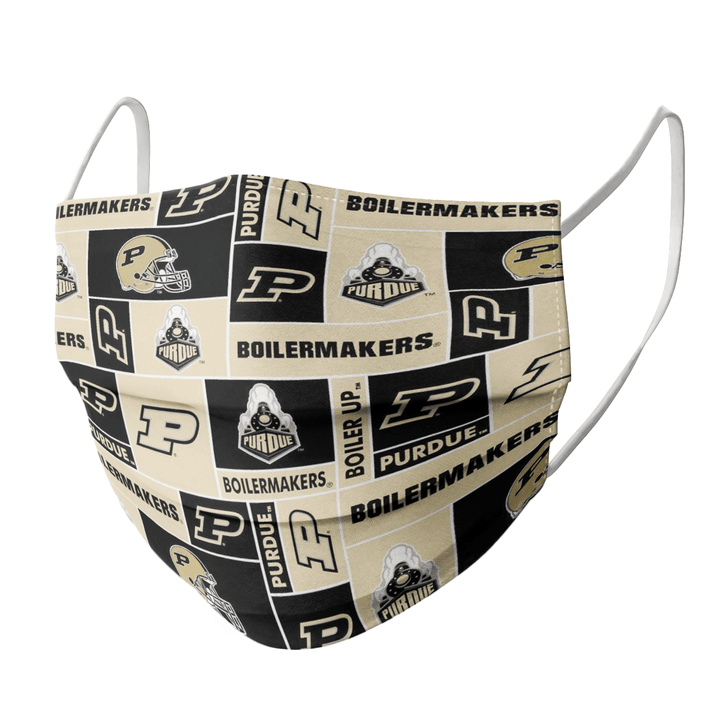 PURDUE BOILERMAKERS CLOTH FACE MASK - Made in USA 2