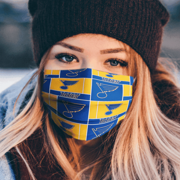 St Louis Blues Fabric Face Mask.png