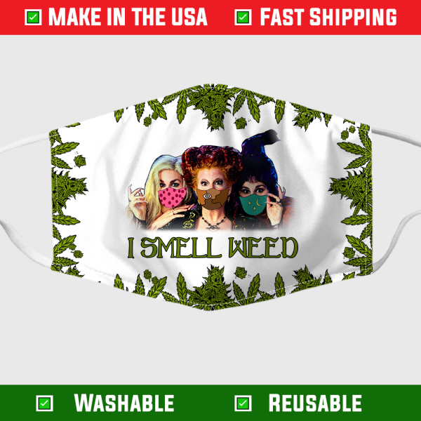 Hocus Pocus I Smell Weed Face Mask 255048