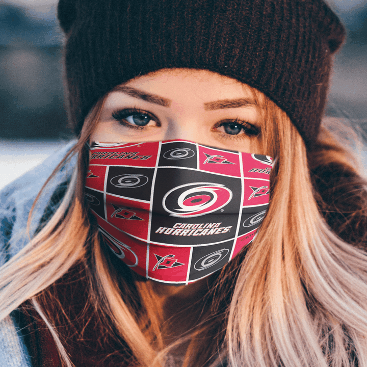 CAROLINA HURRICANES CLOTH FACE MASK - Made in USA 1