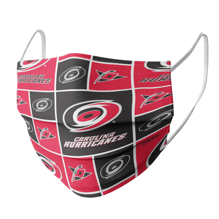 CAROLINA HURRICANES CLOTH FACE MASK - Made in USA 2