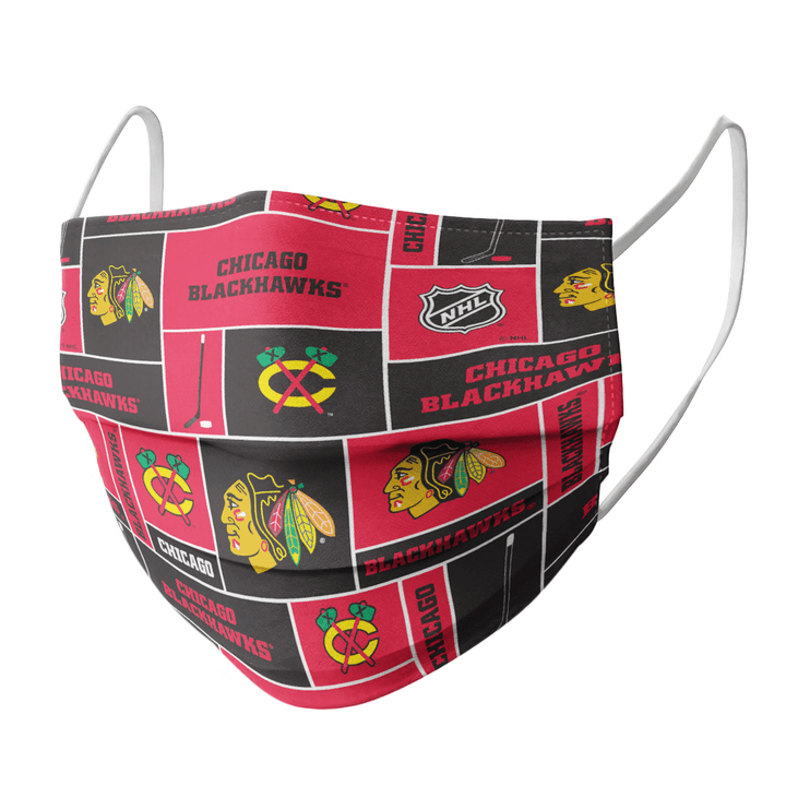 CHICAGO BLACKHAWKS CLOTH FACE MASK - Made in USA 2