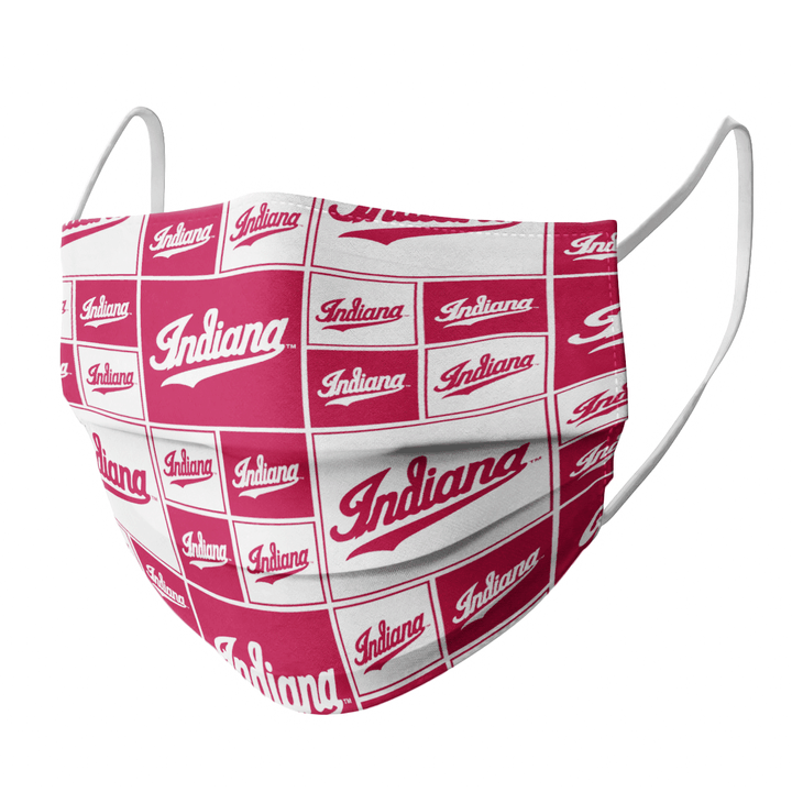 INDIANA HOOSIERS FACE MASK - Made in USA 2
