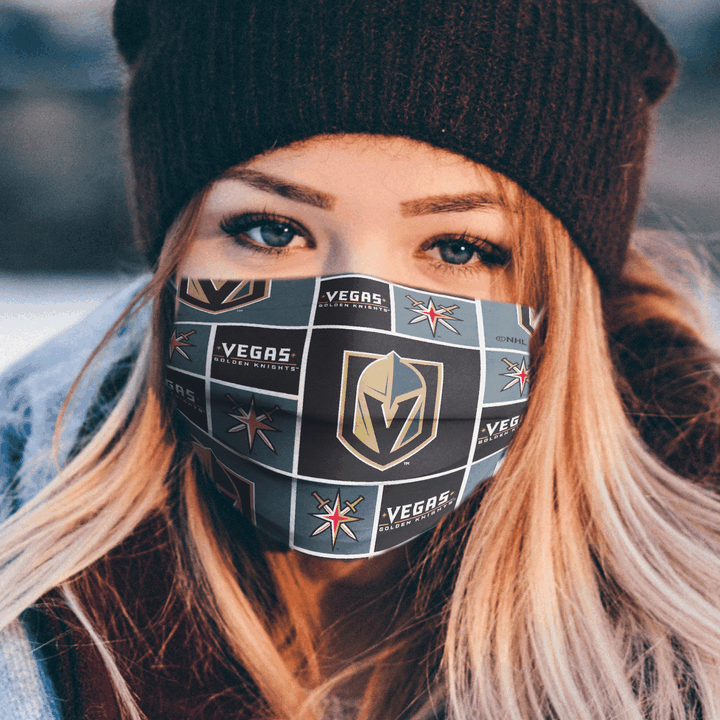 VEGAS GOLDEN KNIGHTS CLOTH FACE MASK - Made in USA 1