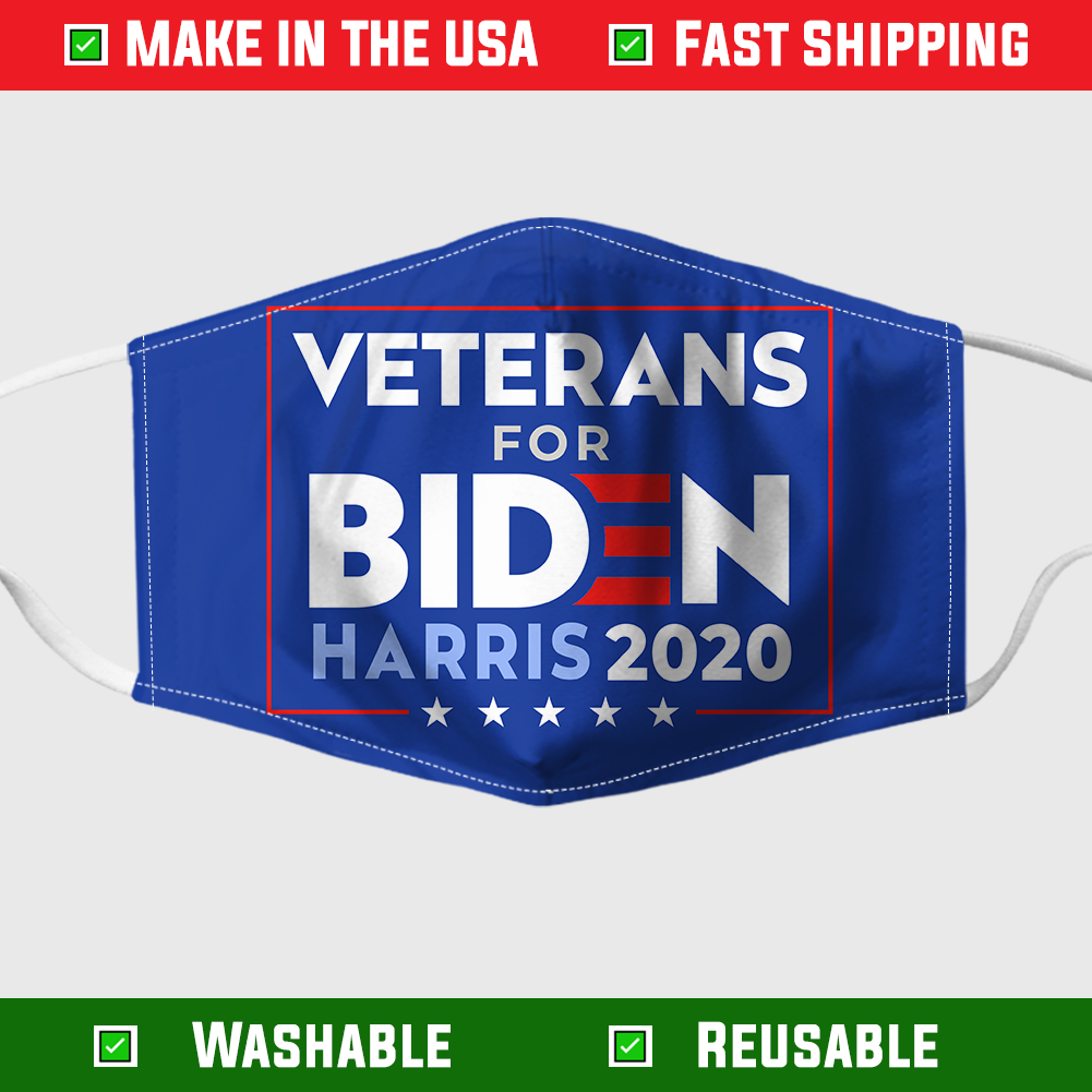 VETERAN FOR BIDEN YARD SIGN FACE MASK 1