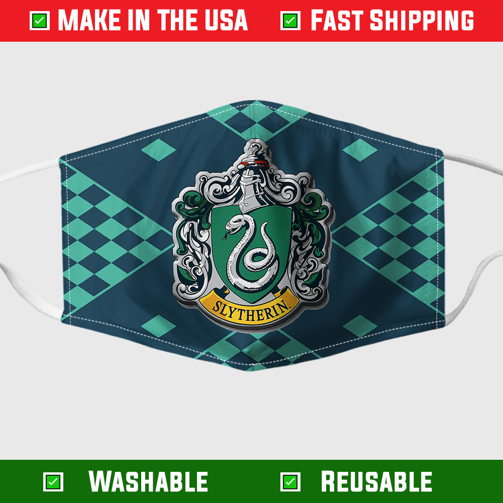Slytherin face mask – Made in the USA 1