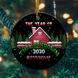2020 Year Of The Lockdown Decorative Christmas Ornament Funny Xmas Giftmk.png