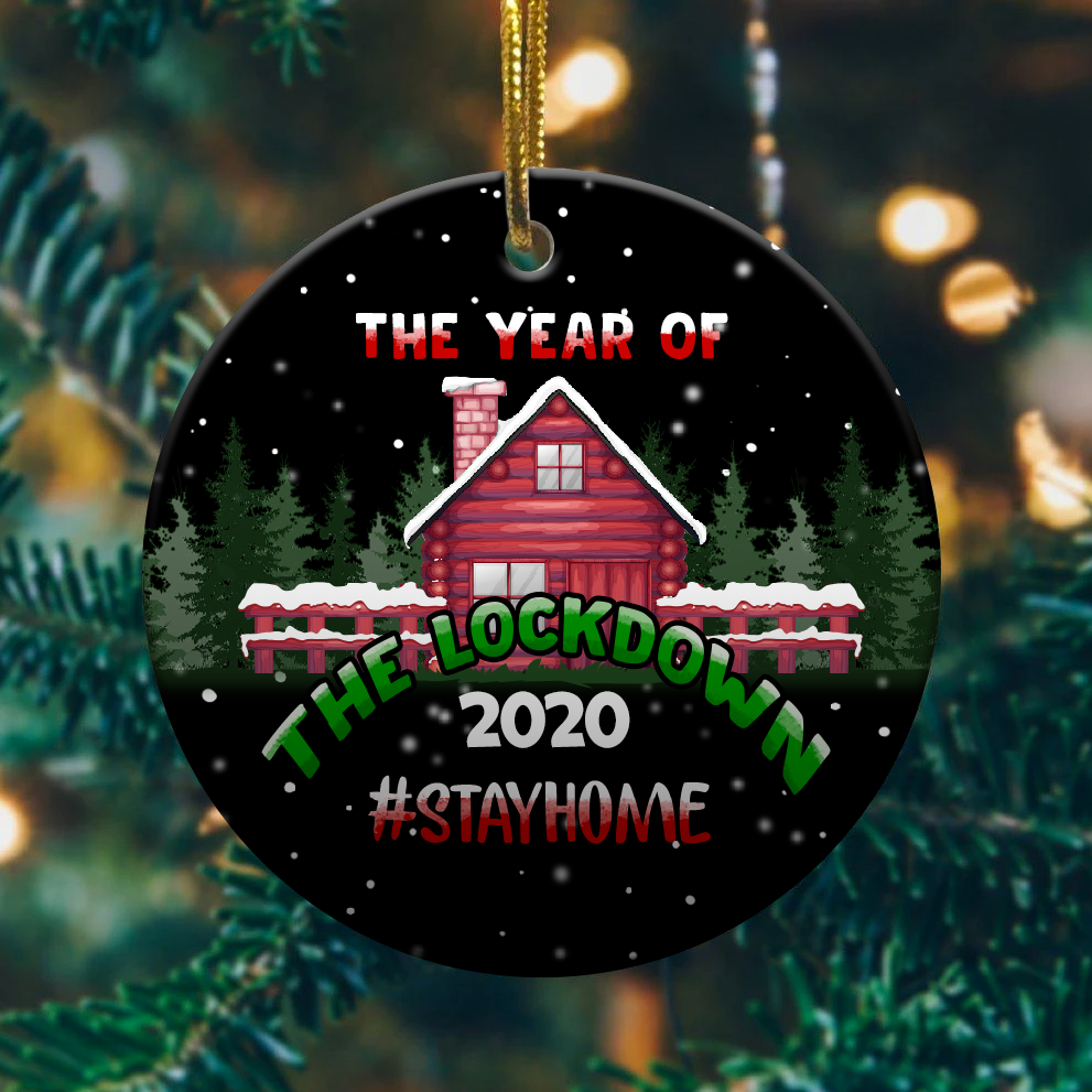 2020 Year Of The Lockdown Decorative Christmas Ornament Funny Xmas Gift 1