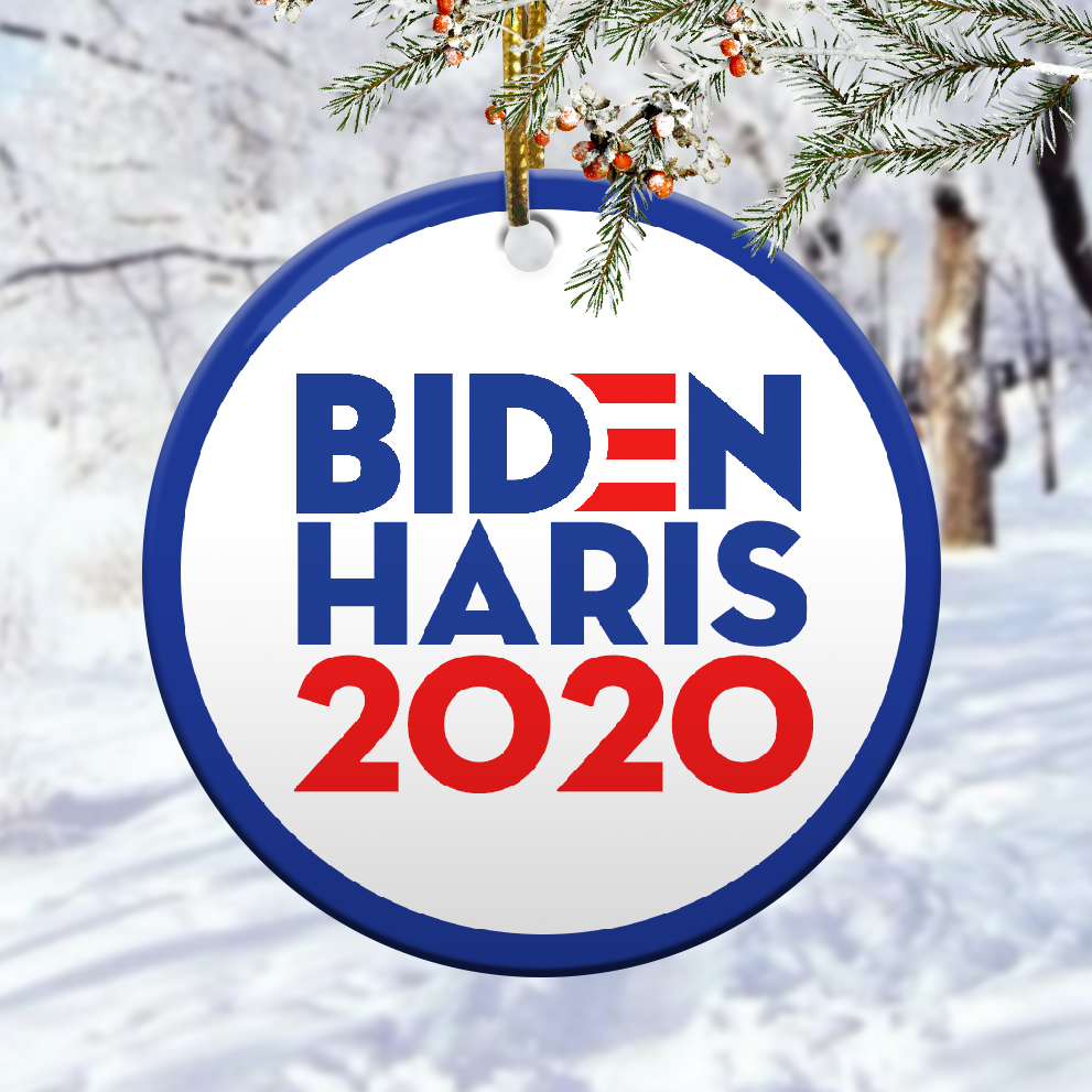 Biden harris christmas ornament 1