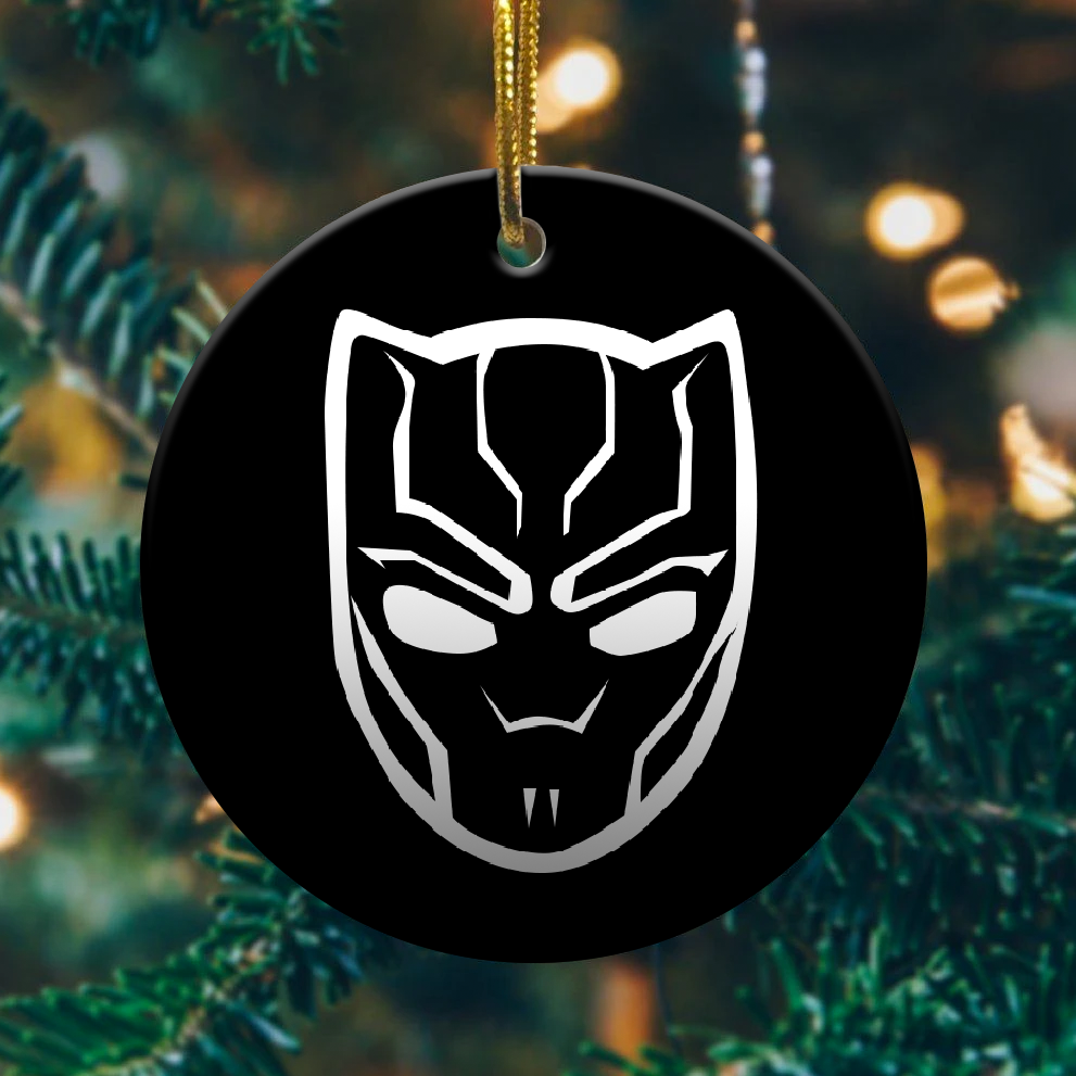 Black panther christmas ornament 1