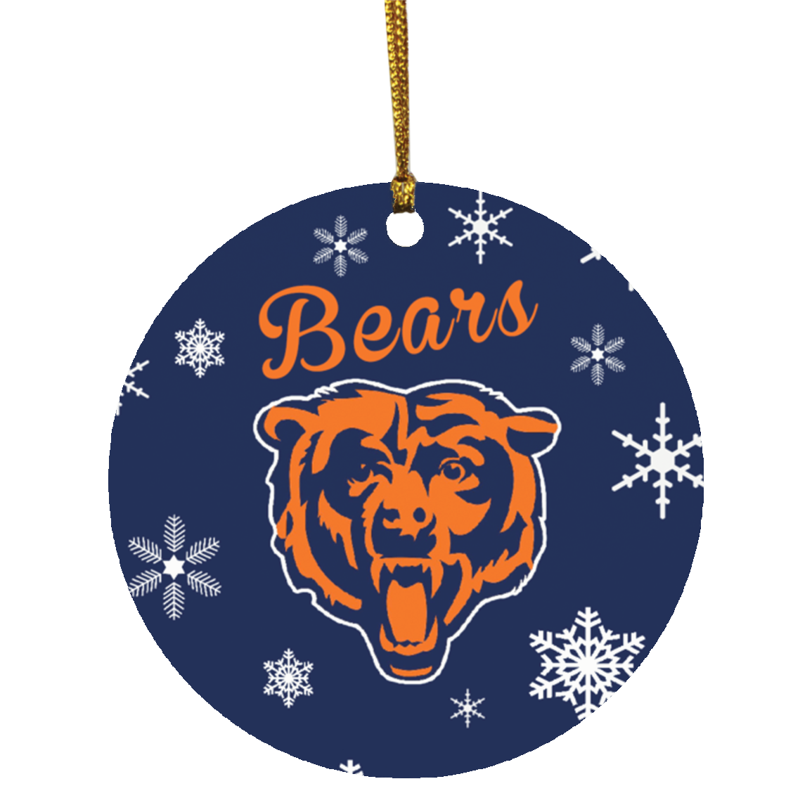 Chicago bears christmas ornaments 1