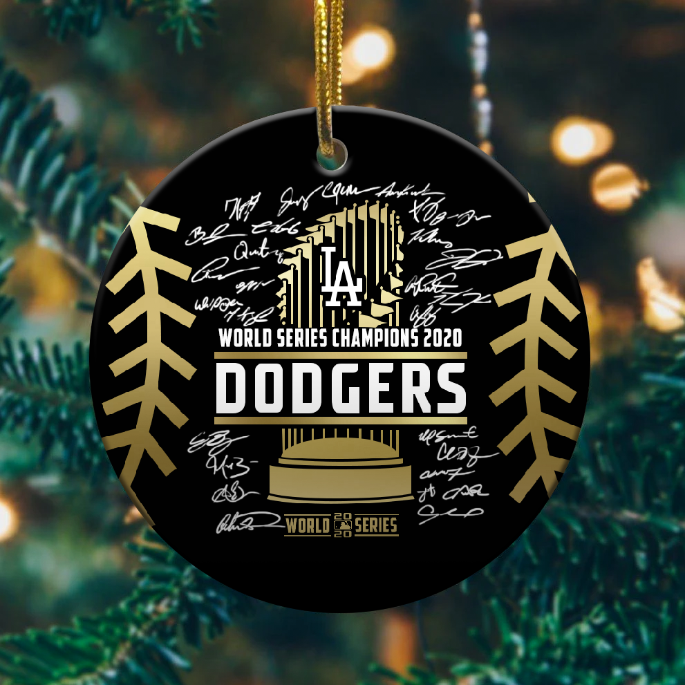 Dodgers World Series Champions 2020 Ornament 1